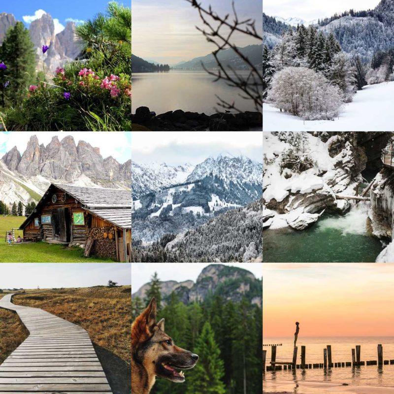 Reise-Fotografien: Von den Deutschen Alpen bis zu den Südtiroler Dolomiten