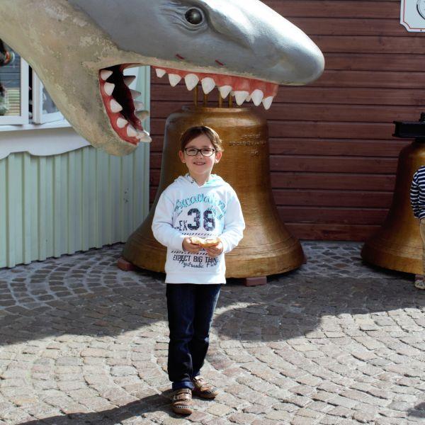 Lass dih fotografieren mit einem Hai