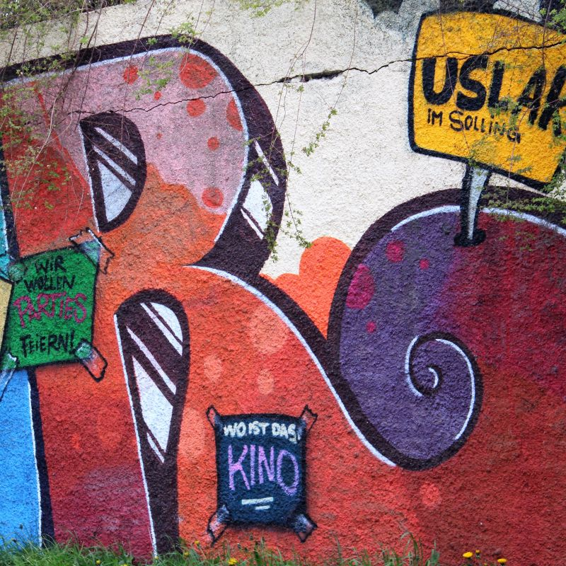 Gesellschaftskritisches Mural in Uslar